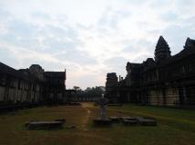 Alleen in Angor Wat, een magisch moment