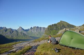 Kamperen op de Lofoten, Noorwegen