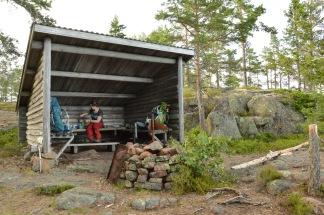 Rustpauze tijdens een hike, Zweden