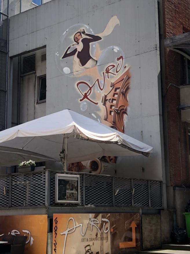 Muurschildering Mechelen: restaurant Puro Guldenstraat