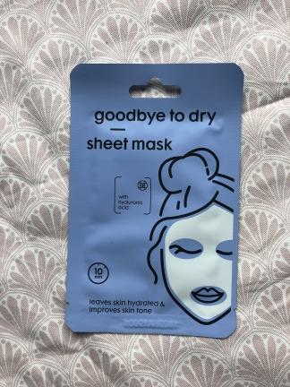 Goodbye to dry sheet mask van Hema