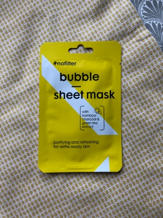 #nofilter bubble sheet mask van Hema