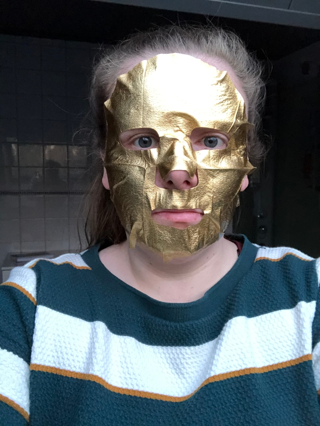 Gold Metallic Sheet Mask van Hema