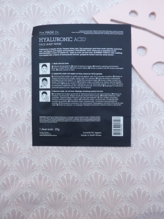 Hyaluronic Acid Face Sheet Mask van the Mask Dr. (Action)